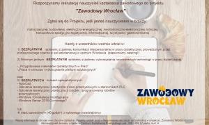 Zawodowy Wroclaw - Plakat rekrutacyjny dla nauczycieli